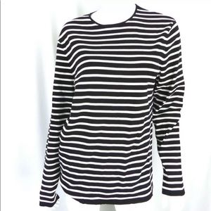 COS Women's Crew-Neck Pullover Shirt Striped Top